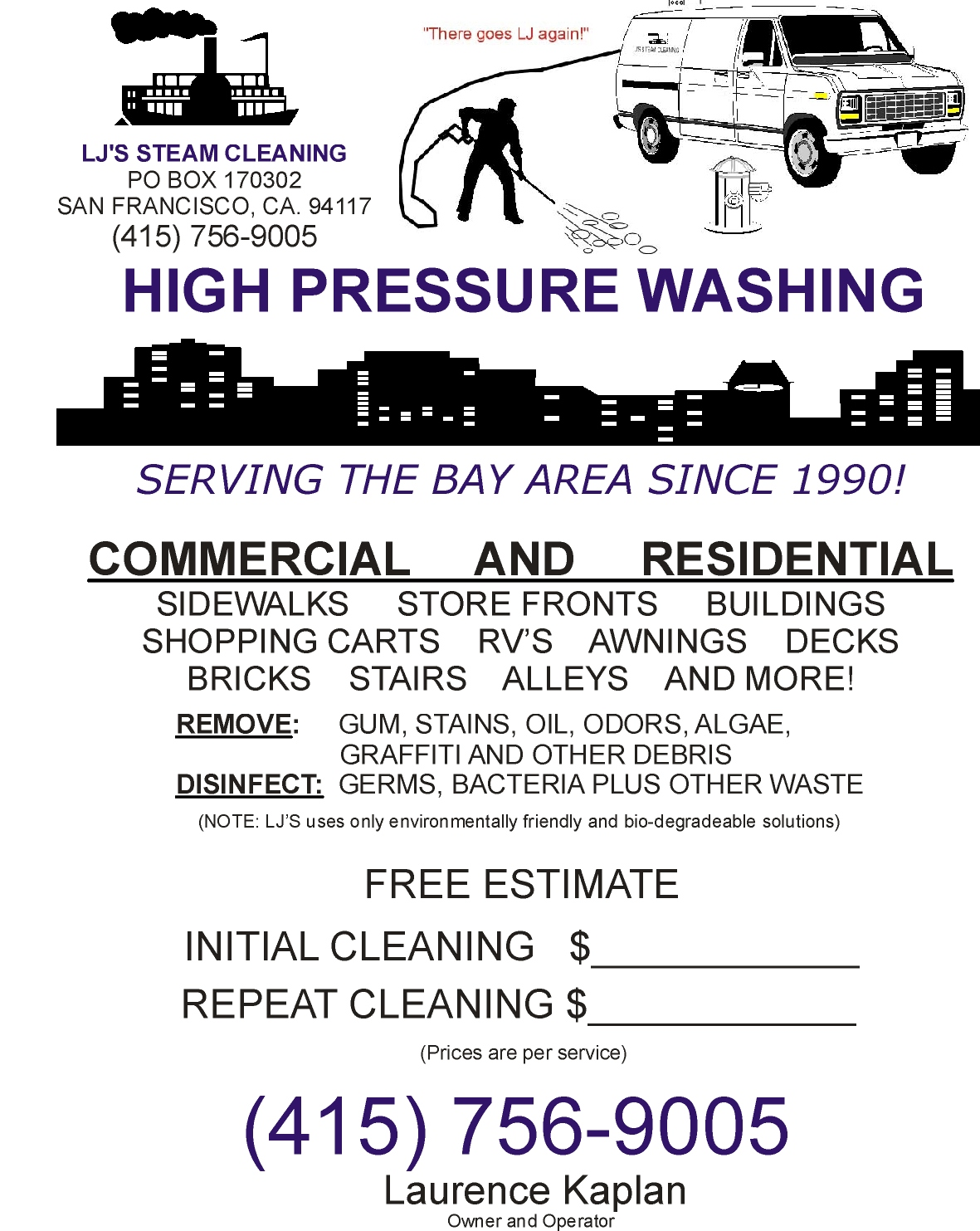 LJS STEAM CLEANING SERVICES